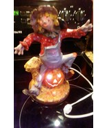Ceramic  Scarecrow on Pumpkin Lighted Byron Molds 241 U-Paint FINISHED C... - $19.79