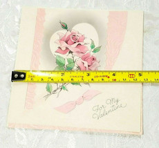 "OLD VINTAGE ""FOR MY VALENTINE"" VALENTINE'S DAY CARD, GOOD COLOR! image 2"