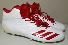Adidas Adizero 5-Star 6.0 Men's Soccer Cleats White Red Size 16 B39409 New - $64.32