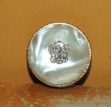 Estee Lauder Regent Monogram Solid Perfume mother of pearl Lucite cream sachet - $112.49