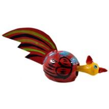 Handmade Oaxaca Copal Wood Carving Folk Art Chicken Rooster Bobble Head Figurine image 1