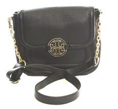 Tory Burch Black Amanda Classic Messenger Bag Cross body Medium Handbag ... - $274.57