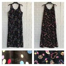 Vtg Reversible polka dot & floral garden sundress - $41.58