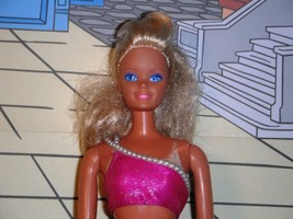 1966 Vintage Barbie Doll Faded Tan Lines Blonde Hair Blue Eyes Funky Pan... - $39.99
