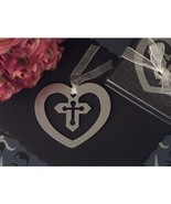 Mark It With Memories Cross within Heart Design Bookmark - 24 Pieces - $23.95