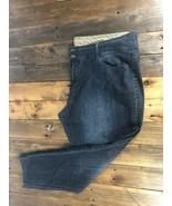Dark Wash Skinny Jeans Avenue Size 20 Petite Blue Stretch Womens - $14.01