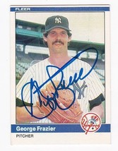 George Frazier Autographed Card 1984 Fleer New York Yankees - $3.98