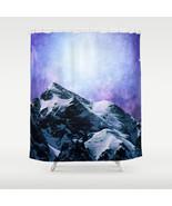 Shower curtains curtain Design 59 mountains sky stars blue purple L.Dumas - $68.99