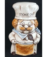 Vintage RARE Treasure Craft ? Vintage Cookie Chef Mustache Cookie Jar Ma... - $67.24