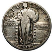 1927S STANDING LIBERTY QUARTER COIN Lot# A 120