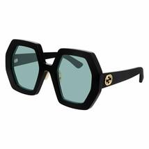 Gucci Oversized Unisex Sunglasses GG0772S 001 Black / Green  Lens 55mm A... - $270.63