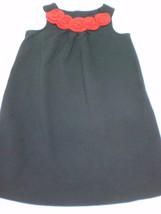 K5044 Girls HANNA ANDERSSON Black/Red Xmas JUMPER DRESS Rose 140 10/12 - $28.96