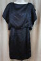 Jessica Simpson Dress Sz 2 Black Animal Print Dolman Sleeve Slit Cocktai... - $59.35