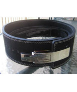 """CP BRAND POWER LIFTING LEVER BELTS 4"""" BLACK 100% LEATHER USA FREE SHIP C... - $91.00"""
