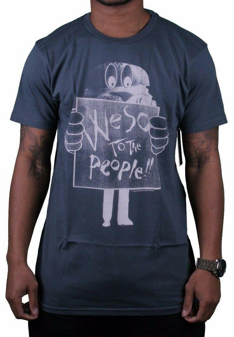 Wesc Mens We Are Superlative Conspiracy Dark Shadow Birger Burger T-Shirt NWT