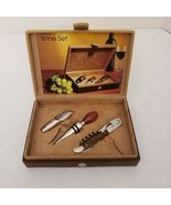3 PIECES GIFT SET FOR WINE LOVERS  BY TRUDEAU - $14.85