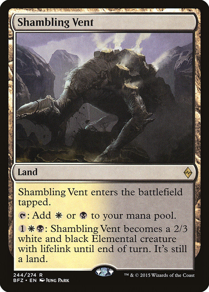 Shambling Vent 1x English NM Battle for Zendikar