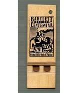 Bartlett Centennial keychain whistle, (NO chain), 1991, Toycrafter, wooden - $4.75
