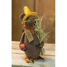 farmhouse primitive country rustic fabric Halloween Fall Scarecrow MOUSE... - $34.99