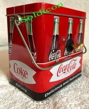 Coke Coca Cola Collection Aluminum Tin Tank Cans Music Box + Quartz desk Clock image 2