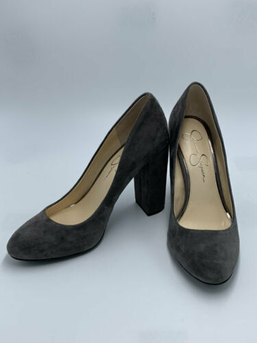 "Primary image for Jessica Simpson 8.5 Belemo Gray Suede Pumps 4"" High Heels Shoes"