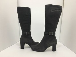 La Canadienne Katia Moka Brown Suede Women's Heel Knee High Waterproof B... - $106.21