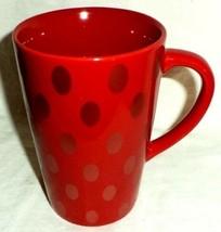 Starbucks Coffee Mug Red Gold Polka Dots 2005 - $14.24