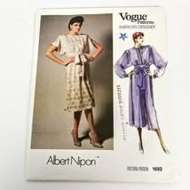 Vogue 1692 Pattern Albert Nipon Dress Size 8 American Designer Vintage U... - $19.99