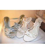 Women's Heels Size 81/2 Wild Rose Delicious White Strap Blue Sling Back ... - $14.85