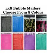 4x8 #000 ( Black Blue Camo Pink Purple Red or Teal  ) Color Poly Bubble ... - $0.99+