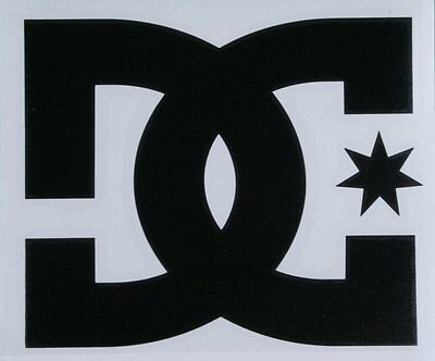 """LARGE DC Shoes 14"""" Black TRANSFER STICKER DECAL"""