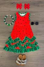 Girls Dress Toddler Baby Clothing Watermelon Polkadot Ruffle Dress 2 3 4... - $23.99