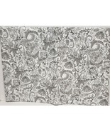 """Superior Tablecloth Vinyl Flannel Back,60""""Round (4-6 ppl) GREY FLOWERS &... - $18.80"""