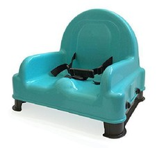 Regalo Right Height Adjustable Booster Seat Teal Top With Brown Legs - $35.86