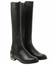 Kensie Ladies Black or Taupe Brown PU Tayson Knee High Tall Riding Boots NIB