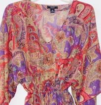 Chaps by Ralph Lauren Paisley Georgette Blouse Tunic Camisole Set Misses S M L - $39.99