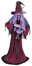 Life Size Animated Fortune Teller Gypsy Witch Halloween Prop See Video! - €198,23 EUR