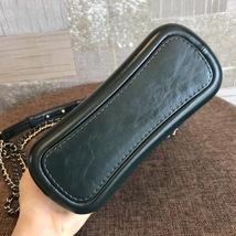 NEW AUTH Chanel 2019 DARK GREEN CHEVRON Calfskin Small Gabrielle Hobo Bag GHW image 5