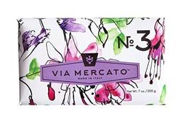 Via Mercato Italian Soap Bar 200 g, No. 3 - Pepe Rosa, Lavender and Vani... - $9.77