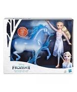 Disney Frozen 2 Elsa Doll and Nokk Spirit Horse Figure HASBRO NIB/Sealed - $43.99