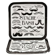 "Mustache Stache Bash Party Paper Dinner Plates (8 Pack) 9.25"" - $8.54"