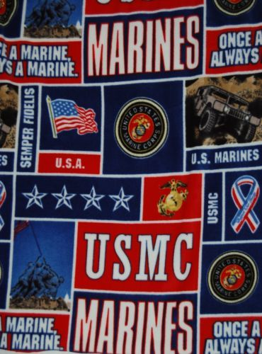Marines Fleece Fabric Anti Pill One Yard Hundred Percent Polyester  No Stains