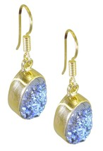 Multi Gold Plated Glass attractive Druzy wholesales Earring AU gift - $9.84