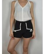 Nwt Size 4 Women Pink Stitch Brand Romper  jumpsuit Short Sleeveless bla... - $22.20