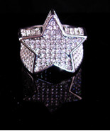 BRILLIANT Pave STAR Rhinestone ring  / over 200 rhinestones - huge state... - $110.00