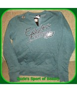 Philadelphia Eagles NFL Team Apparel Women's Green Sweatshirt-Small - $32.62