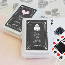 100 Personalized Themed Chalkboard Playing CARDS Birthday Bridal Wedding... - $104.45