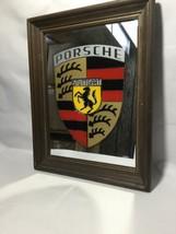 """Collectible Vintage Porsche Stuttgart Framed Red, Black, Yellow 11"""" x14""""... - $37.83"""