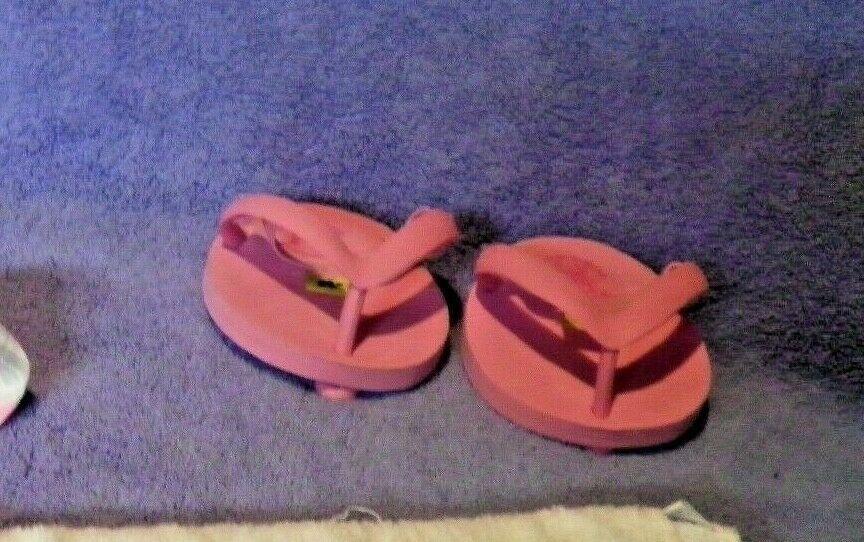 Build A Bear Pink Flip Flop And Bikini Swimsuit matching towel set
