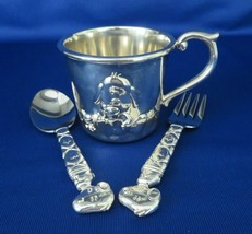 Lenox, Childrens Cup, Spoon & Fork, Snoopy & Woodstock, Peanuts, Silver Plated - $20.00